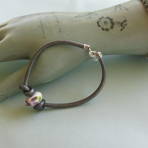 Handmade Leather stacking bracelet