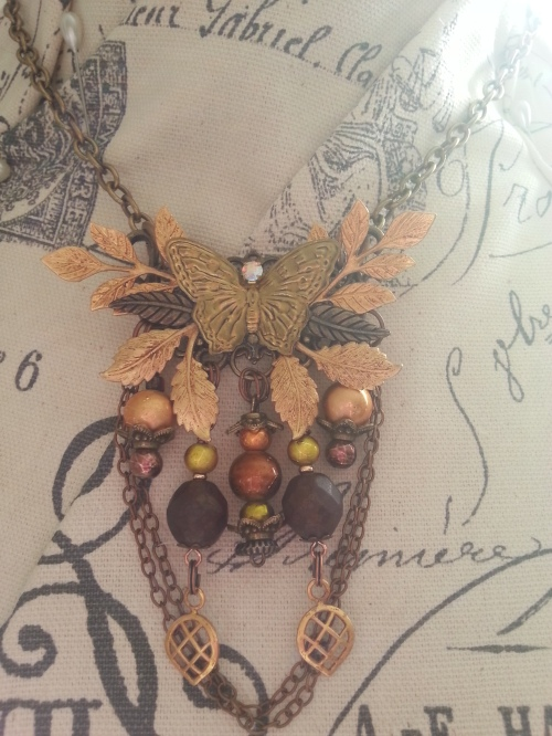 Fall Collage Necklace