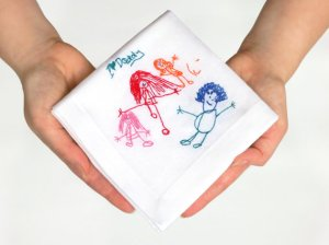 Children's Drawing Embroidered handkerchief